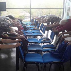 Fitness for fun - active adults - senior yoga - chair yoga for seniors